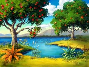 202616-two-fruit-trees-on-the-riverbank